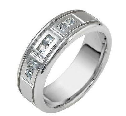 Mens Diamond wedding ring 18ct 1355000