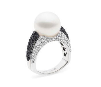 Kailis SHIMMER Vibrance Ring Black & White Diamonds