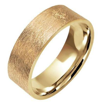 Classics brushed finish wedding ring 18ct 243A022