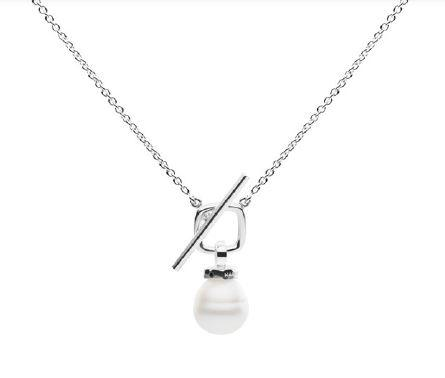 KAILIS SILVER T-bar Necklace Set