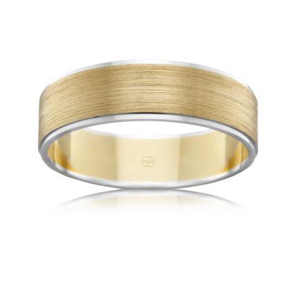 18ct Multitone Wedding Ring 2T2782