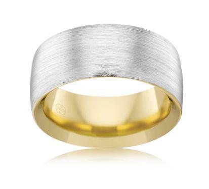 18ct Multitone Wedding Ring 2T3720