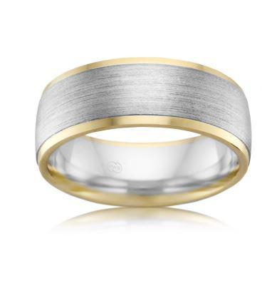 18ct Multitone Wedding Ring 2T3929