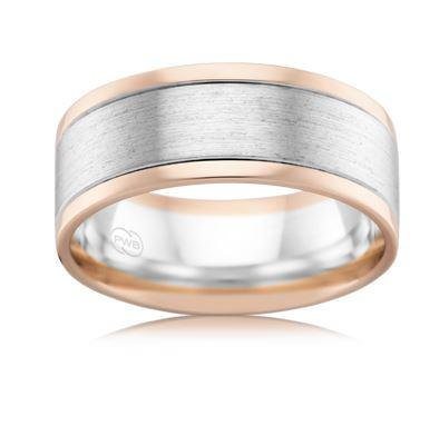 18ct Multitone Wedding Ring 2T3985