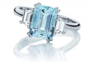 18ct White Gold Aquamarine And Diamond Ring FJ0115