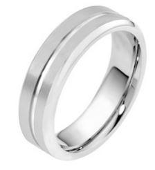 9ct White Gold Brushed