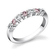 18ct White Gold Diamond And Pink Sapphire Ring FJ0064