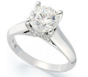 18ct White Gold Round Brilliant Cut Diamond Ring- FJ5102 (Setting price only)