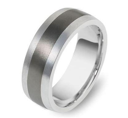 9ct White Gold Titanium