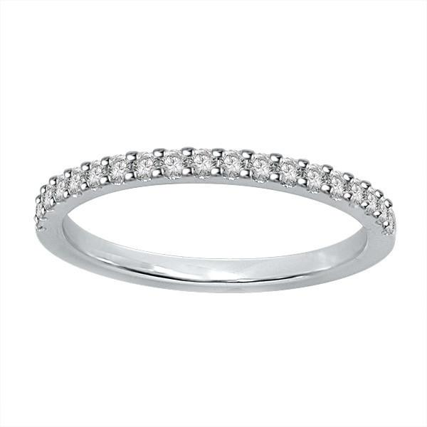 18ct White Gold Diamond Wedding Ring WS0034