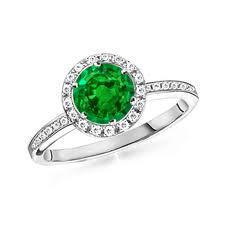 18ct White Gold Emerald And Diamond Ring FJ0051