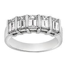 18ct White Gold Emerald Cut Diamond Ring FJ0068