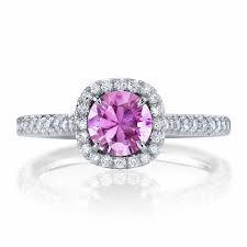 18ct White Gold Pink Sapphire Diamond Ring FJ0041