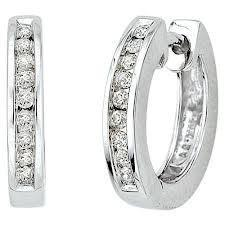 18ct White Gold Round Brilliant Cut Diamond Earrings FJ0027