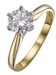 18ct Yellow Gold 0.38cts Round Brilliant Cut Ring FJ0062
