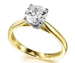 18ct Yellow Gold 0.48cts Round Brilliant Cut Diamond FJ0059