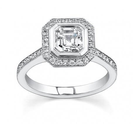 18ct White Gold 0.70cts Asscher Cut Diamond Ring FJ0017