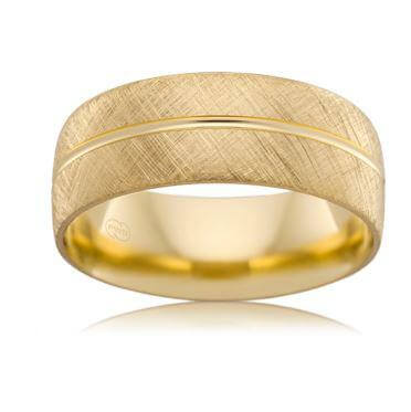 18ct Yellow Gold Gents Wedding Ring B2624