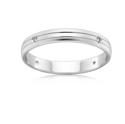 18ct White Gold Diamond Set Wedding Ring-B2632