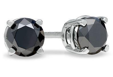 18ct White Gold Black Diamond 1.17cts Studs FJ0074