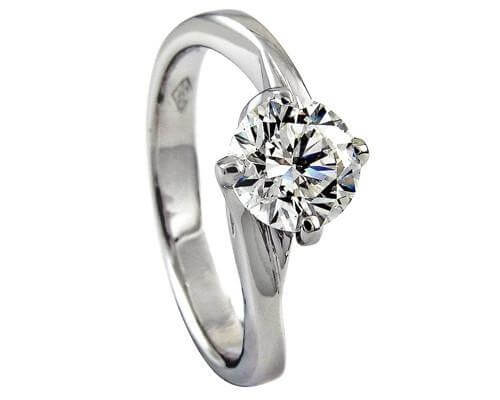 18ct White Gold 0.56cts Round Brilliant Cut Diamond Ring FJ0045