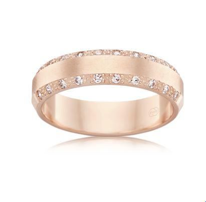 18ct Rose Gold Ladies Diamond Wedding Ring F3512