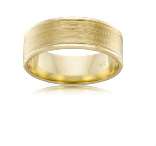 18ct Yellow Gold Gents Wedding Ring F3793