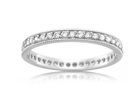 18ct White Gold Ladies Diamond Wedding Ring F3891
