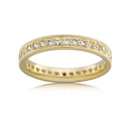 18ct Yellow Gold Ladies Diamond Wedding Ring F4184