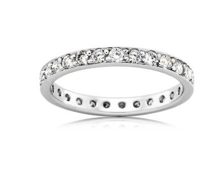 18ct White Gold Ladies Diamond Wedding Ring F4186