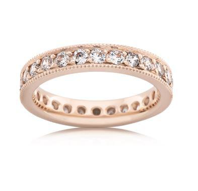 18ct Rose Gold Ladies Diamond Wedding Ring F4187