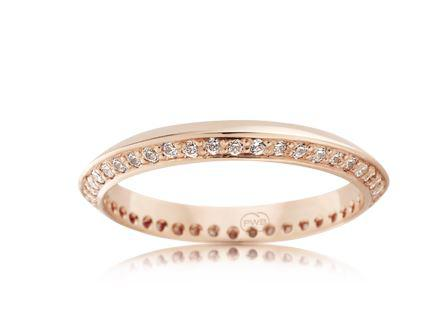 18ct Rose Gold Ladies Diamond Wedding Ring FC3545