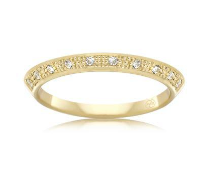 18ct Yellow Gold Ladies Diamond Wedding Ring FC3743