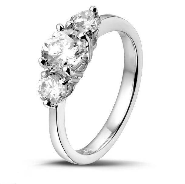 18ct White Gold 0.53cts Round Brilliant Cut Diamond Ring FJ0123