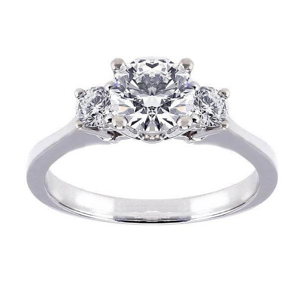 18ct White Gold 0.60cts Round Brilliant Cut Diamond Ring FJ0124
