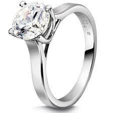 18ct White Gold 0.62cts Round Brilliant Cut Diamond Ring FJ0013