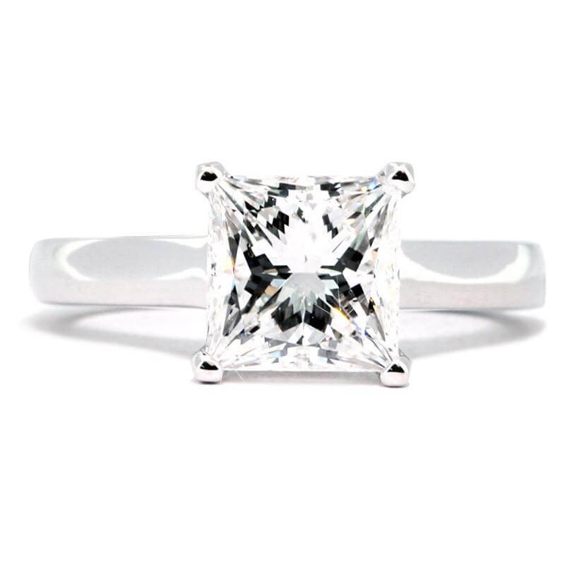 18ct White Gold 0.50cts Princess Cut Diamond Ring FJ0015