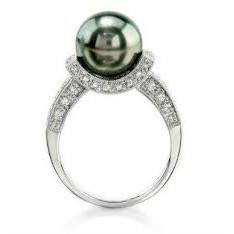 Tahitian Pearl And Diamond Ring FJ0074
