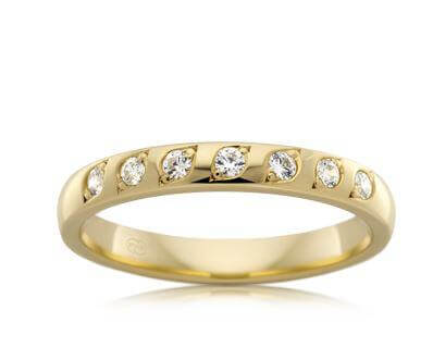18ct Yellow Gold Ladies Diamond Wedding Ring HDE1606