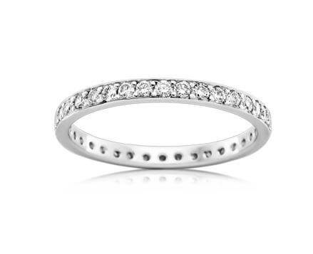 18ct White Gold Ladies Diamond Wedding ring Ring HR4185