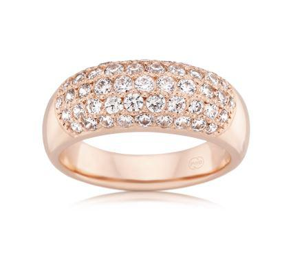 18ct Rose Gold Ladies Diamond Wedding Ring J1993