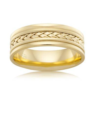 18ct Yellow Gold Gents Wedding Ring J2594