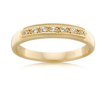 18ct Yellow Gold Ladies Diamond Wedding Ring J3080