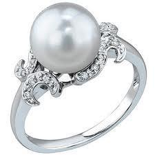 South Sea Pearl And Diamond Ring FJ0073