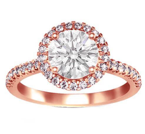 18ct Rose Gold 0.50cts Round Brilliant Cut Diamond Ring FJ0071