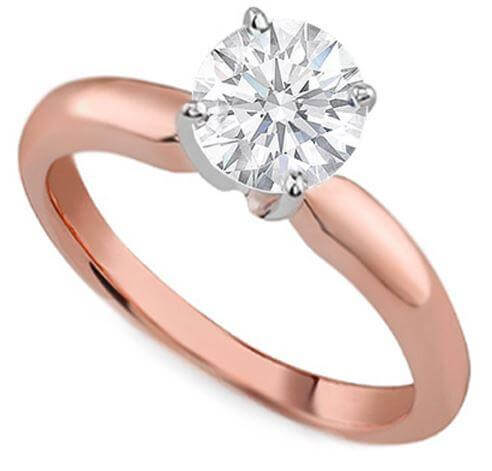 18ct Rose Gold 0.57cts Round Brilliant Cut Diamond Ring FJ0118