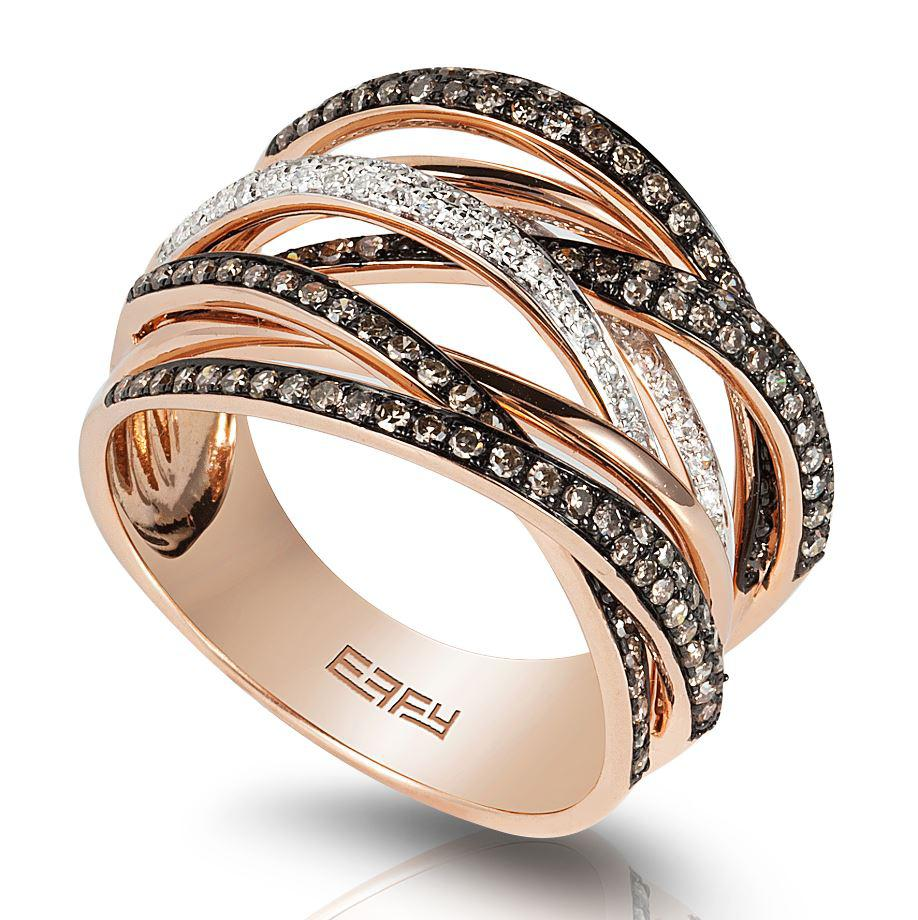 Effy 14ct Rose Gold Diamond Ring WZOK222D56