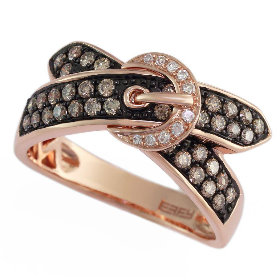 Effy 14ct Rose Gold Diamond Ring WZOP894D56