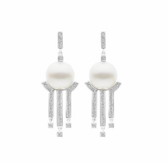 METROPOLIS Earrings White Gold