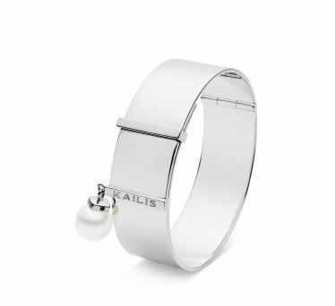 KAILIS SILVER Silver Clip Bangle